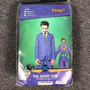 Batman The Joker purple striped suit costume